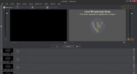 интерфейс wirecast