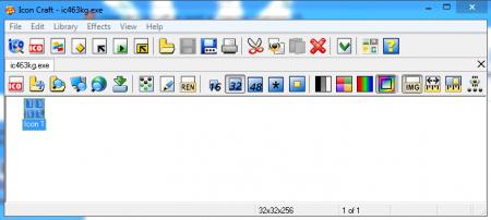 интерфейс программы icon craft