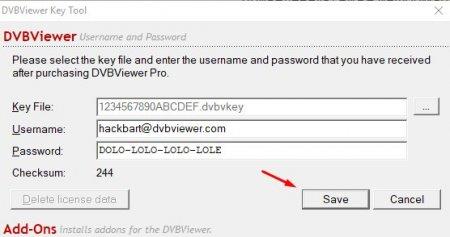 ключ DVBViewer