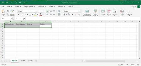 таблицы OfficeSuite