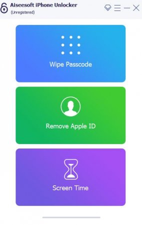 интерфейс Aiseesoft iPhone Unlocker