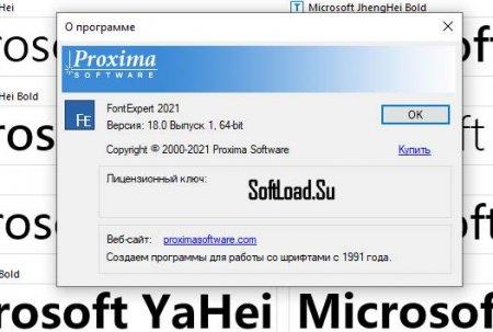 лицензия FontExpert