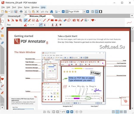 интерфейс PDF Annotator 8.0